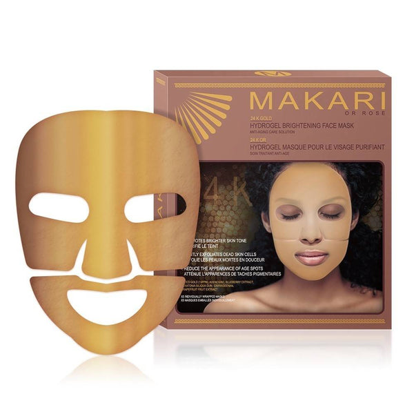 MAKARI - 24K GOLD HYDRO GEL FACE MASKS  / Revitalizes. Hydrates. Boosts Luminosity  For all skin types.