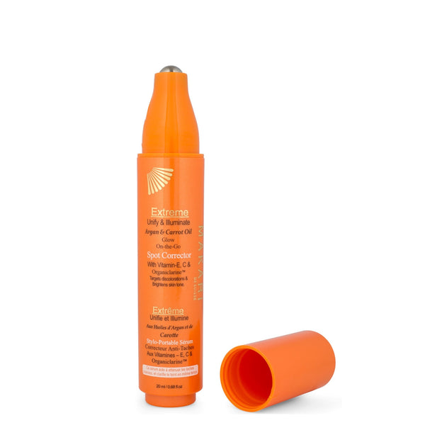 EXTREME ARGAN & CARROT OIL SPOT CORRECTOR PEN / Lightens dark knuckles, dark spots, blemishes, and other small discolorations