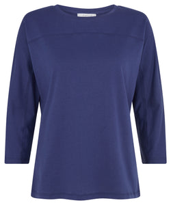 Batwing Tee Navy Blue