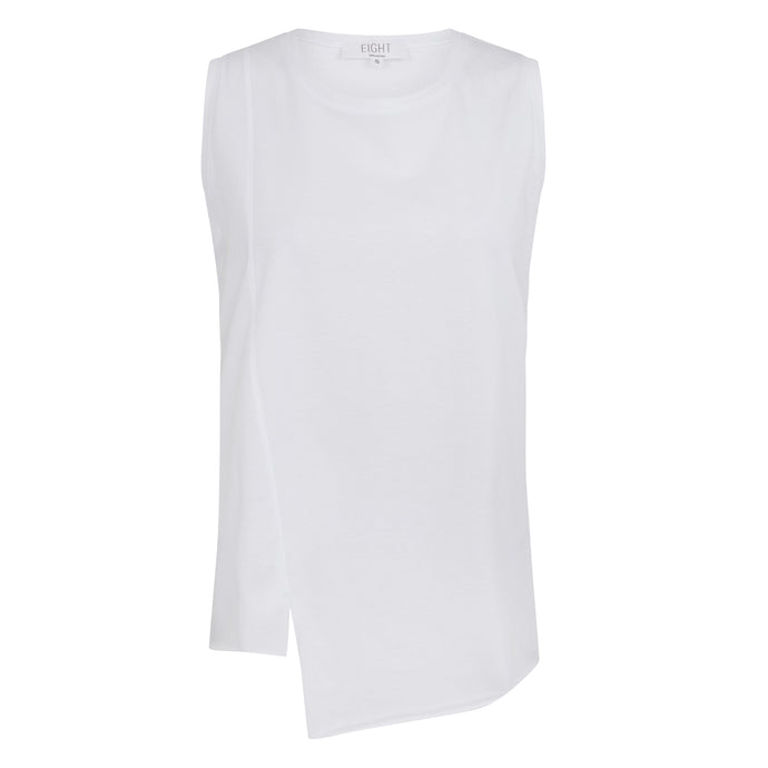 Asymmetric Tank White
