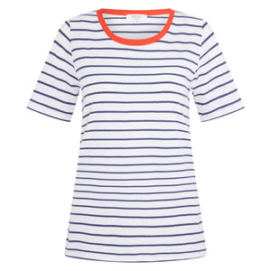 Slim Relaxed Tee Navy Stripe