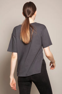 Deep V Short Front Tee  Anthracite