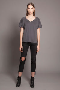 Collar Bone Tee Anthracite