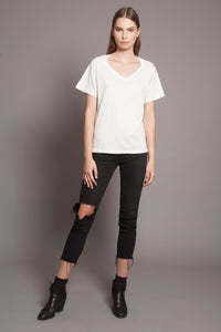 Collar Bone Tee Daylight White