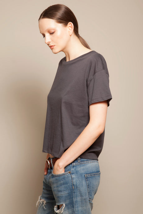 Short Boyfriend Tee Anthracite