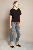 Short Boyfriend Tee Black