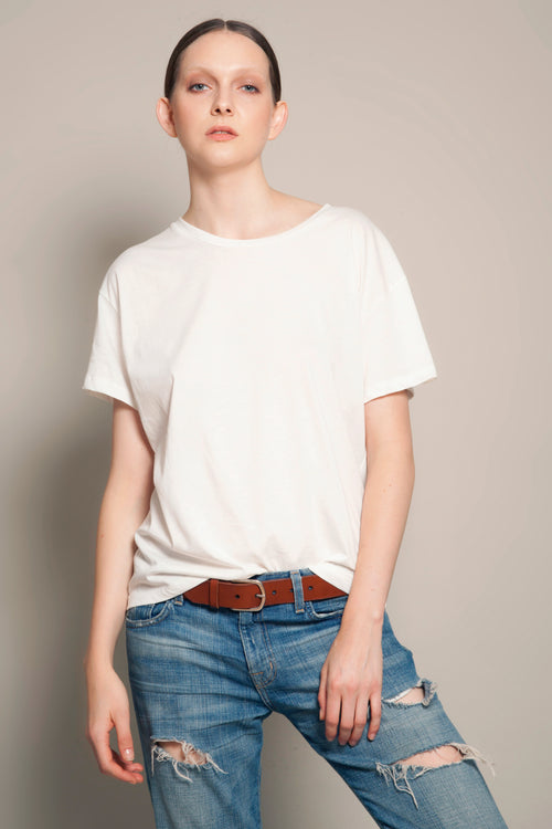 Boyfriend Tee Daylight White