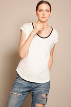 Basic Round Neck Tee Daylight White