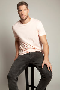 Basic Round Neck Tee Flamingo Pink