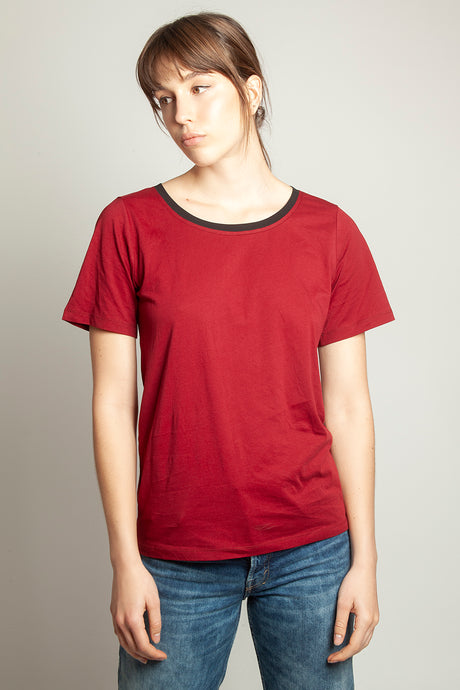 Slim Relaxed Tee Ox Blood