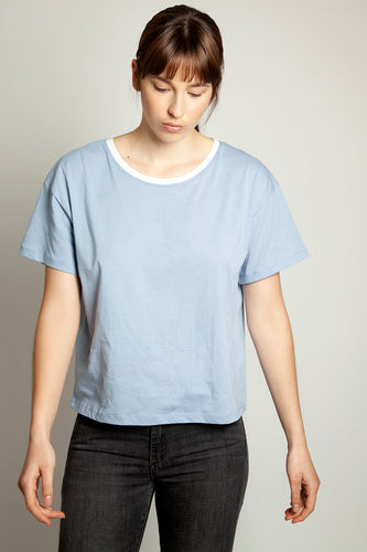 Short Boyfriend Tee Baby Blue