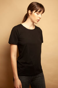 Slim Relaxed Tee Black