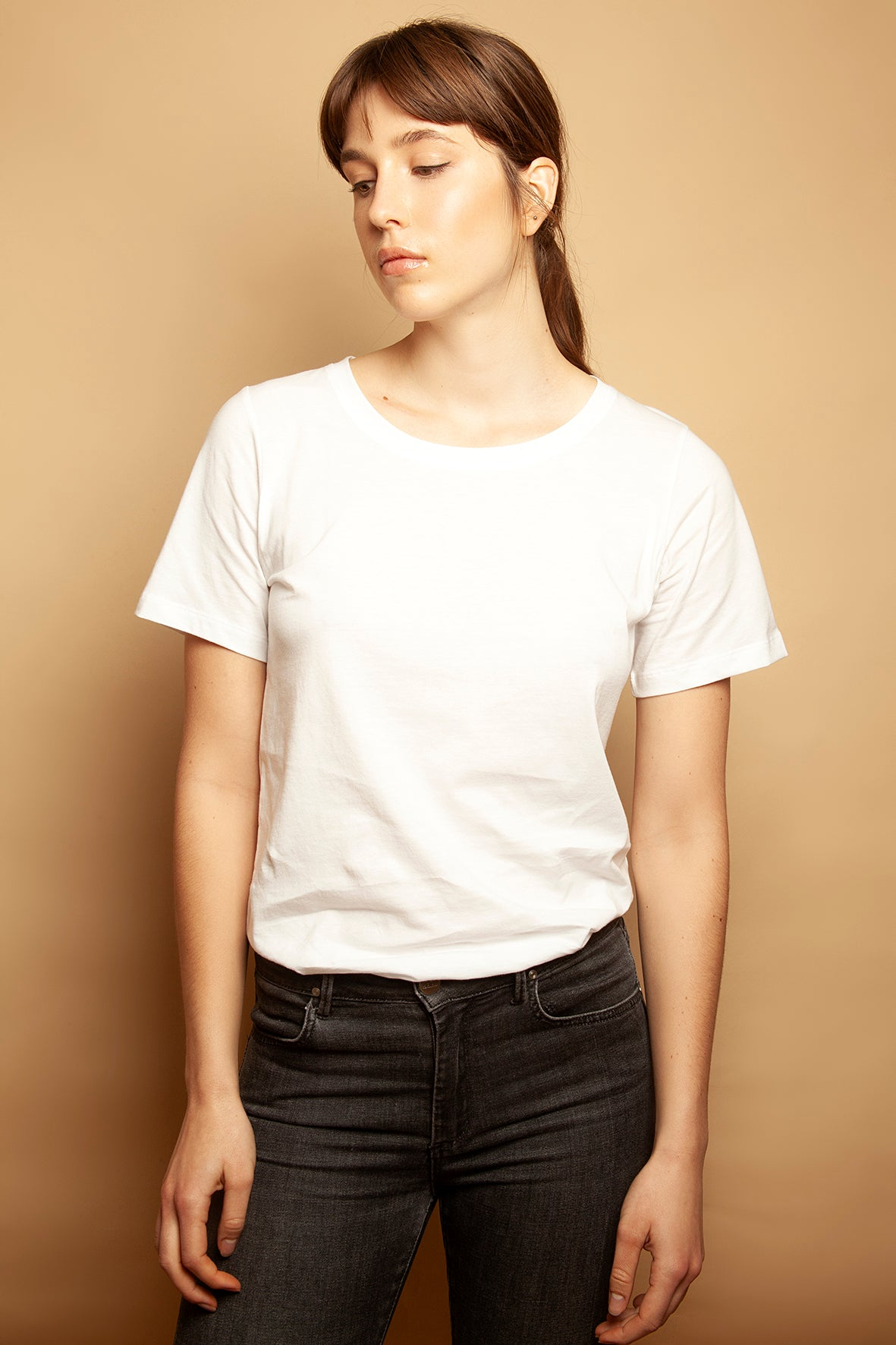 Slim Relaxed Tee White