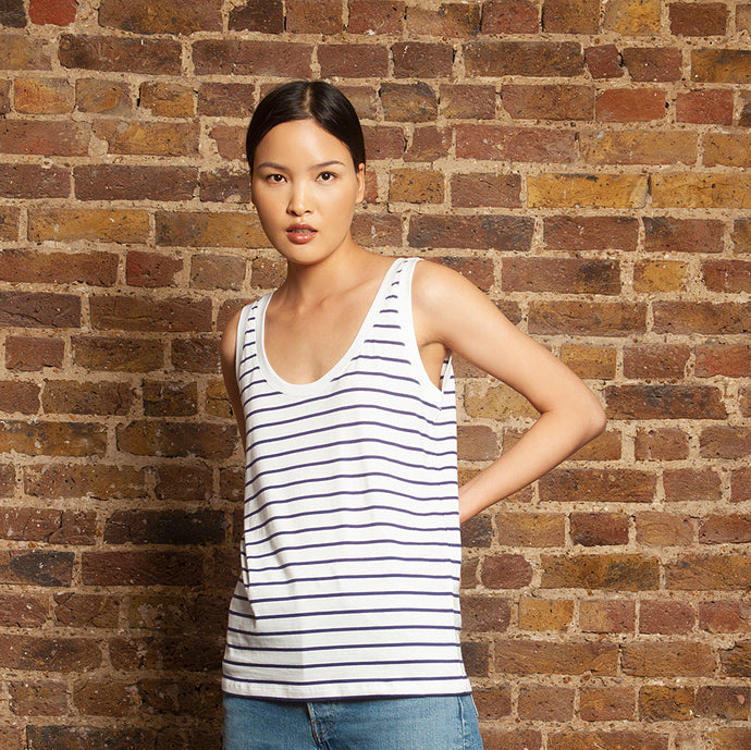 Basic Tank Navy Stripe