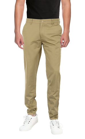 Men's casual slim fit cotton trousers