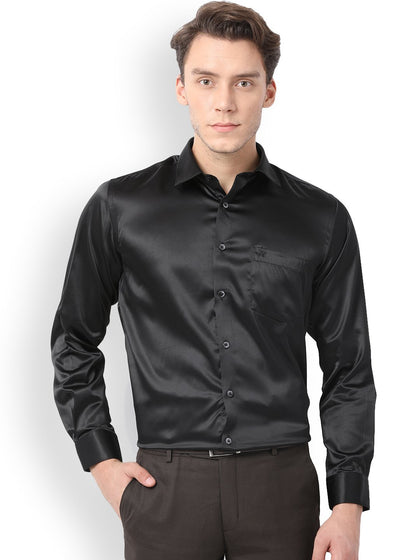 Men's Club Wear Satin Shirt Collection Available in different colors and sizes.