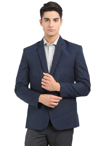 Men's formal slim fit blazer cotton