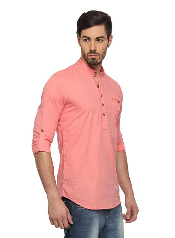 Men's short lenth linin kurta cotton buy online