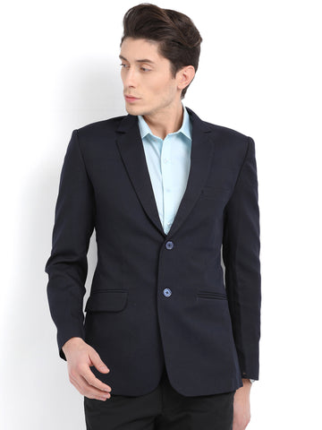 M 27 Men's Slim Fit Formal Blazer Navy Blue Color