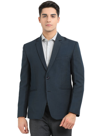 Men's formal blazer slim fit 2 button Midnight blue color