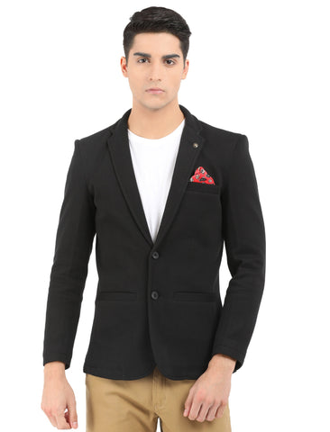 M 27 Men's Casual slim fit Blazer Black color