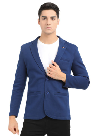 M 27 Casual slim fit Blazer Denim color