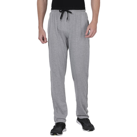 M 27 Cotton track pants comfort fit Grey colour