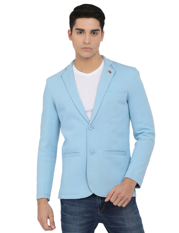 M 27 Men's Slim Fit Casual Blazer Sky Blue Color