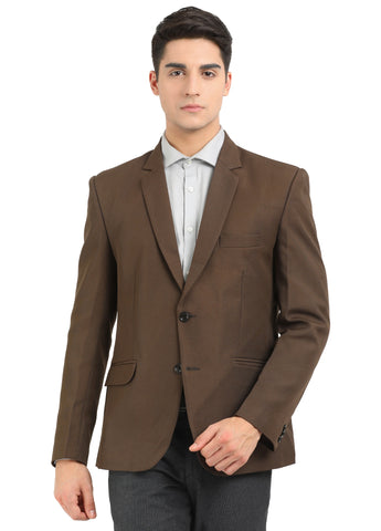 M 27 Men's Slim Fit Formal Blazer Brown Color