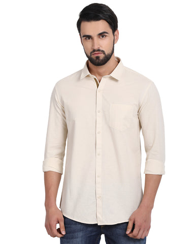 M 27 Casual Shirts Tan Color
