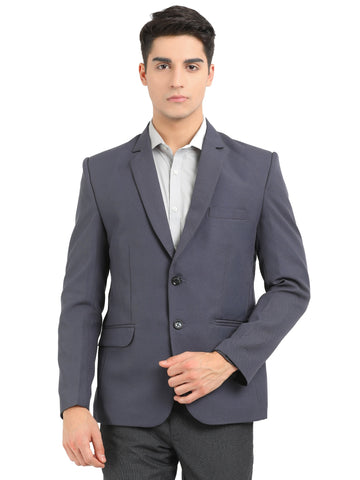 M 27 Men's Slim Fit Formal Blazer Dark Gray Color
