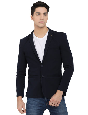 M 27 Men's Slim Fit Casual Blazer Navy Blue Color