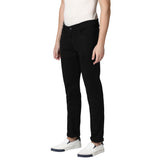 M 27 Solid Black Denim Jeans Regular fit