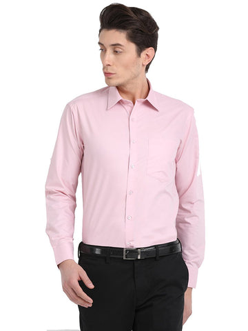 Pan America Men's formal regular fit shirt pale red color