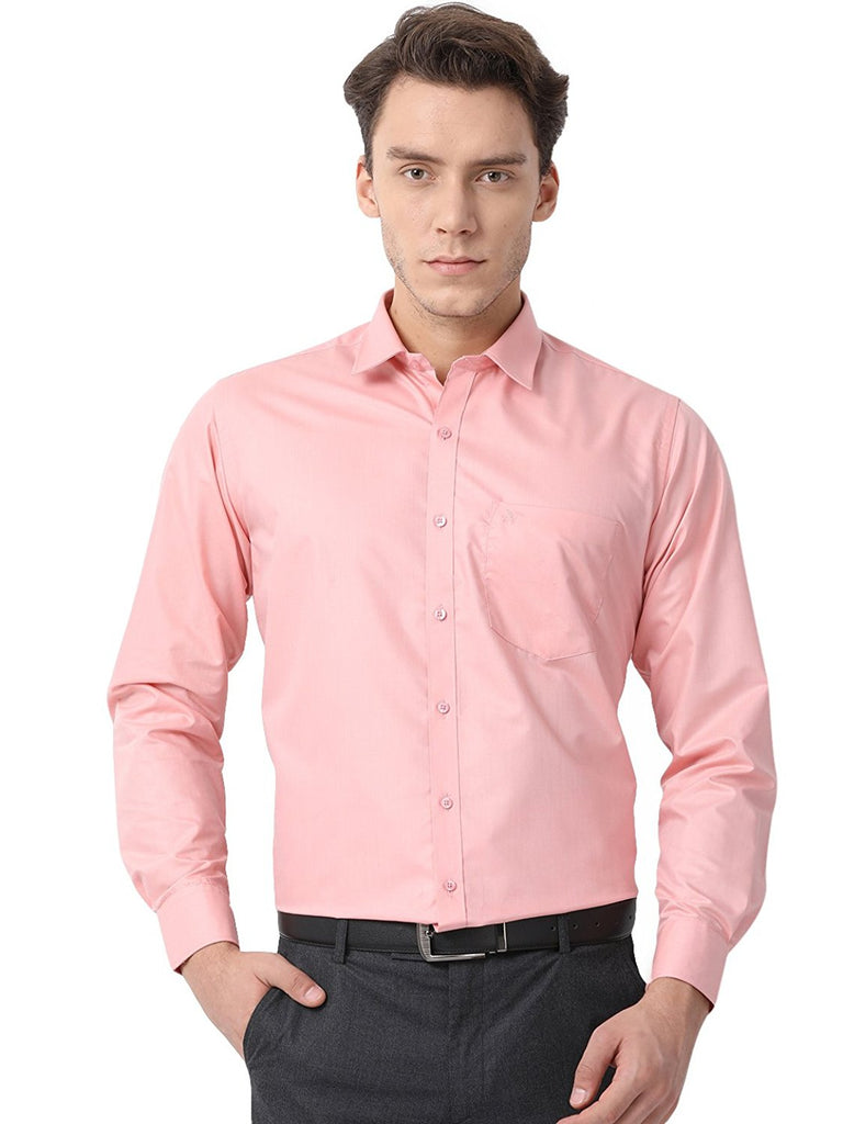 Pan America Men S Formal Shirt Light Red Men S Club Fashions