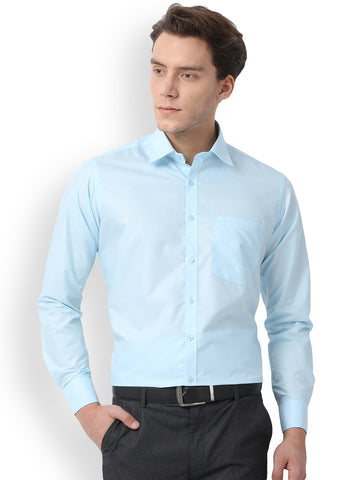 Pan America Men's formal shirt regular fit light Blue color