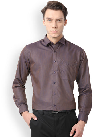 Pan America Men's Formal Shirt Beetroot Color