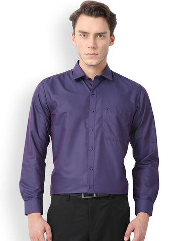 Pan America Men's Formal Shirt Violet Blue Color office wear