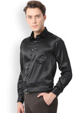 Pan America Men's Satin Clubwear Casual Shirt