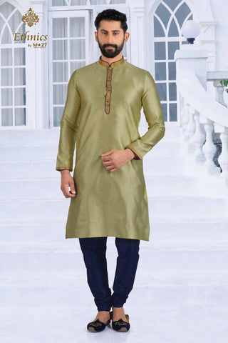 Ethnics by M 27 Printex Kurta Set Pistachio Color