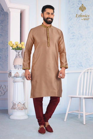Ethnics by M 27 Printex Kurta Set Peach Color