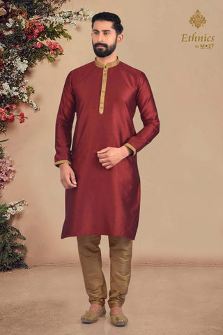 Ethnics by M 27 Printex Kurta Set Maroon Color