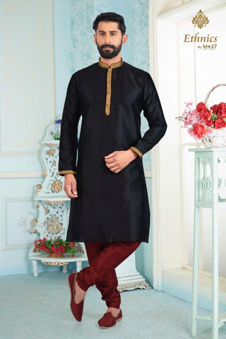 Ethnics by M 27 Printex Kurta Set Black Color