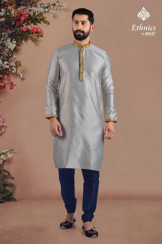 Ethnics by M 27 Printex Kurta Set Silver Color