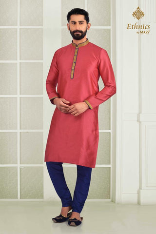 Ethnics by M 27 Printex Kurta Set Pink Color