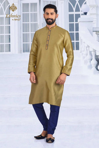 Ethnics by M 27 Printex Kurta Set Gold Color