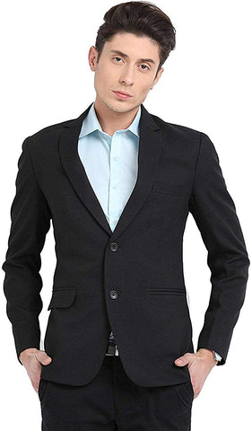 Men's formal blazer 2 button Black color