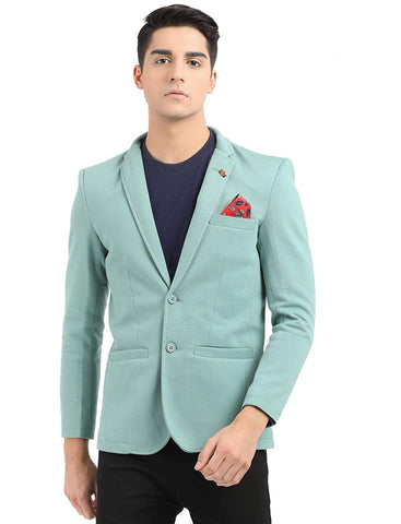 M 27 Casual slim fit Blazer Pastel Green color