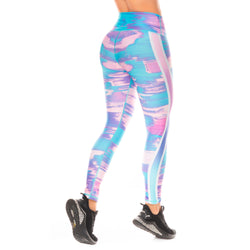 Shape Concept Colombian Workout high Waisted Leggings | Compression Tight Crossfit Yoga Pants Golden SCL031