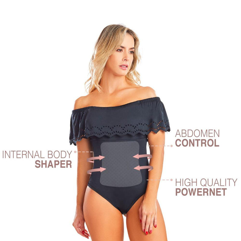 Shape Concept Fajas Colombianas Mid Compression Bodysuits with Internal Powernet Shaper (One Size fits XS-L) 4265-1 - Fajas Colombianas | Colombian Shapewear